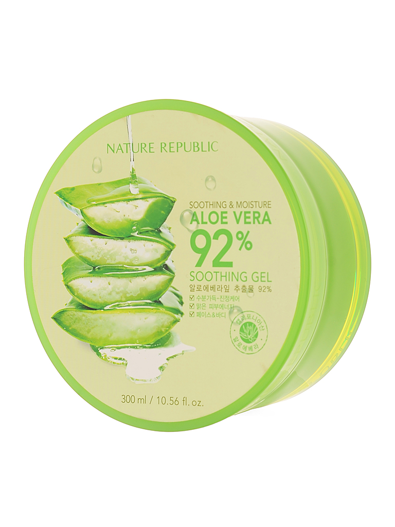 NATURE REPUBLIC SOOTHING & MOISTURE ALOE VERA 92% SOOTHING GEL 300 Ml