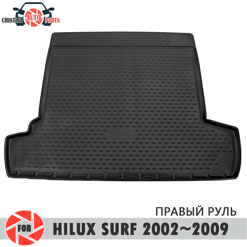 Trunk mat for <font><b>Toyota</b></font> Hilux Surf 2002~2009 trunk floor rugs non slip polyurethane dirt protection trunk car styling image