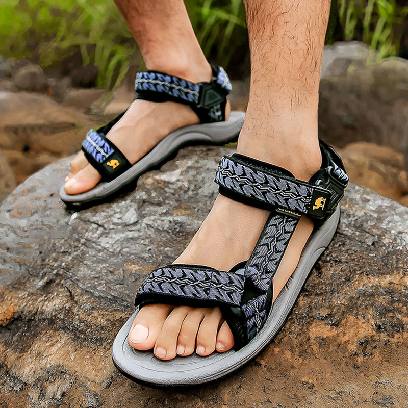 CAMEL Outdoor Sandals Men Shoes Non-Slip Breathable Summer Lightweight Hiking New Wading
