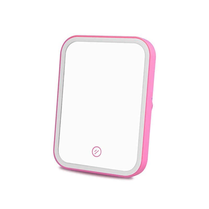 Specchio del bagno Led Specchio Specchio Per Il Trucco Strumenti di Batteria/Tipo di ricarica Touch Screen Specchio Cosmetico Specchio Da Bagno Accessori