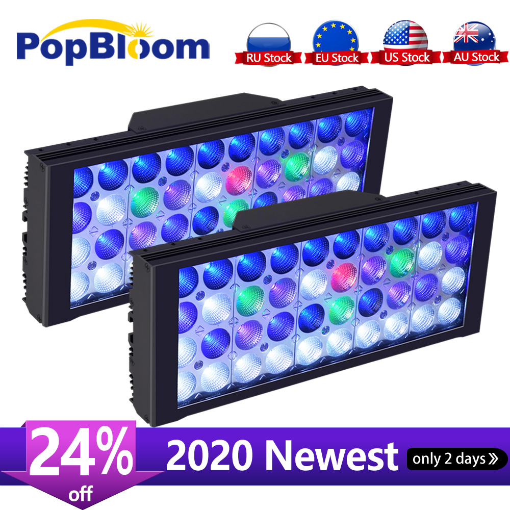 PopBloom Led Aquarium Light Led Marine Aquarium Led Lighting Reef Led Light Aquarium Led Tank Light For Aquarium Lamp Turing30