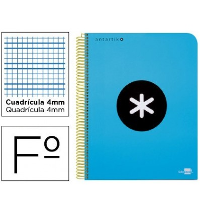 SPIRAL NOTEBOOK LEADERPAPER A4 ANTARTIK HARDCOVER 80H 100 GR BOX 5MM BLUE COLOR