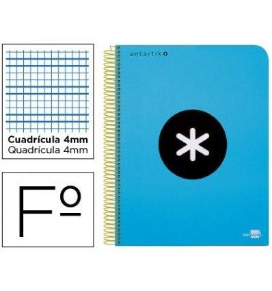 SPIRAL NOTEBOOK LEADERPAPER A4 ANTARTIK HARDCOVER 80H 100 GR BOX 5MM BLUE COLOR