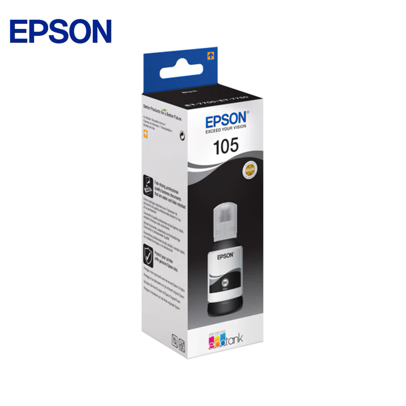 Epson ink container (black) epson ink container cyan blue