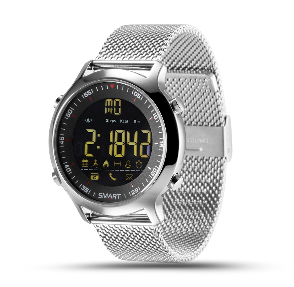 <font><b>Watch</b></font> CARCAM <font><b>SMART</b></font> <font><b>WATCH</b></font> <font><b>EX18</b></font>-SILVER image