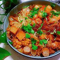 #福气年夜菜#红红火火白菜粉丝煲的做法图解13