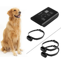 KD 990 Newest Design Dog Fence System, Wireless Electric Dog Collar Fence With 1/2 Collars 100g2280