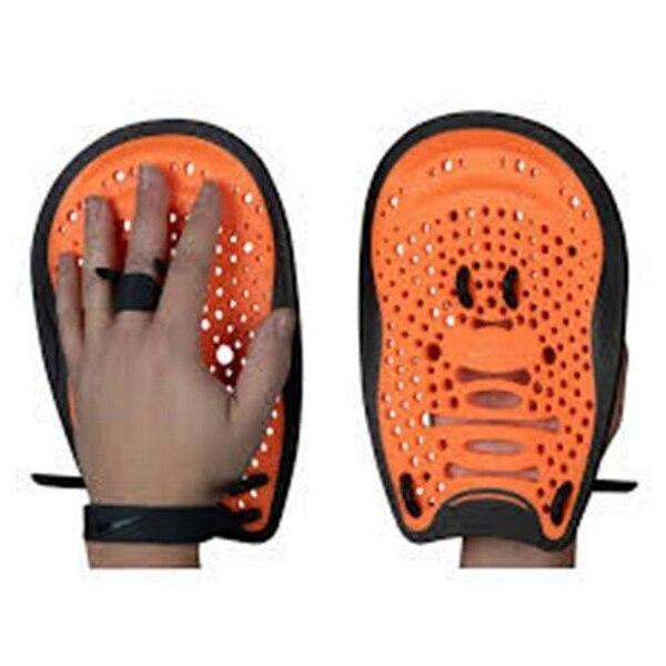 Swimming Paddles Nike Black Orange (Size S/m)