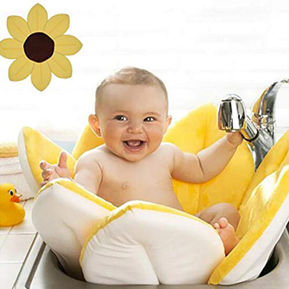 Flower Bath Bathing Mat Gray Blooming Bath Lotus Baby Bath