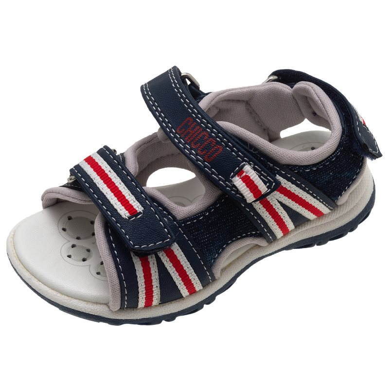 Фото - Sandals Chicco, size 24, color blue-white-red shoes velcro genuine leather chicco size 200 color blue and red