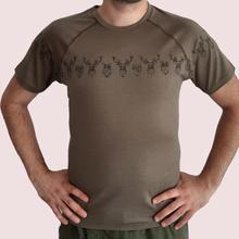 Мужской из шерсти мериноса Футболка Мужской Топ вязаный короткий рукав термический базовый слой Джерси футболка цвета хаки