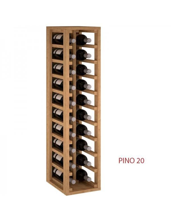 ขวดไม้ Rack สำหรับ 20 ขวดโดยเฉพาะอย่างยิ่งสำหรับห้องครัวหรือ Cellar