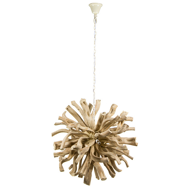 Ceiling Light Wood (70 X 70 X 70 Cm)