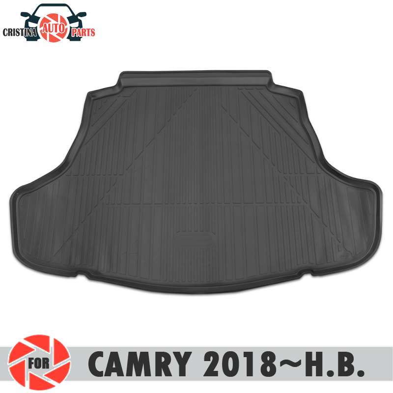 Trunk mat for Toyota Camry 2018~ trunk floor rugs non slip polyurethane dirt protection interior trunk car styling decoration trunk mat for toyota camry 2018 trunk floor rugs non slip polyurethane dirt protection interior trunk car styling decoration