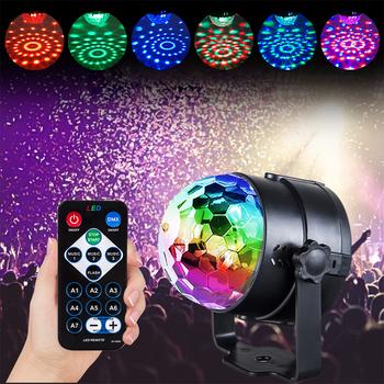 LED Mini dj #8217 skie USB światło dyskotekowe RGB stroboskop Laser sceniczny projektor świetlny dla klubu domu obracanie kula dyskotekowa dźwięk oświetlenie imprezowe lampa LED tanie i dobre opinie AVACOM Rohs CN (pochodzenie) Efekt oświetlenia scenicznego Oświetlenie sceniczne DMX 10 w Domowa rozrywka disco light