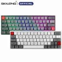 SKYLOONG SK64 Heißer Swap Mechanische Tastatur Mit RGB Backlit Drahtlose Bluetooth Gaming Tastatur ABS Tastenkappen Für Win/Mac GK64
