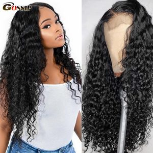 Curly Human Hair Wig 360 Lace Frontal Wig Water Wave Remy Lace Front Human Hair Wigs For Black Women Ponytail 13x4 13x6 Lace Wig