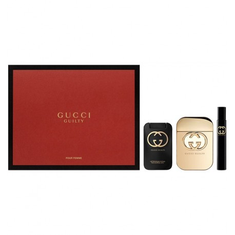 GUCCI GUILTY EDT 75ML + BODY LOTION 100ML + ROLL 7,4ML