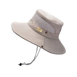 다이와 패션 뉴 여름 메쉬 통기성 어부 모자 2020 남자 야외 등산 빅 브림 태양 모자 들어 갔어 낚시 모자
