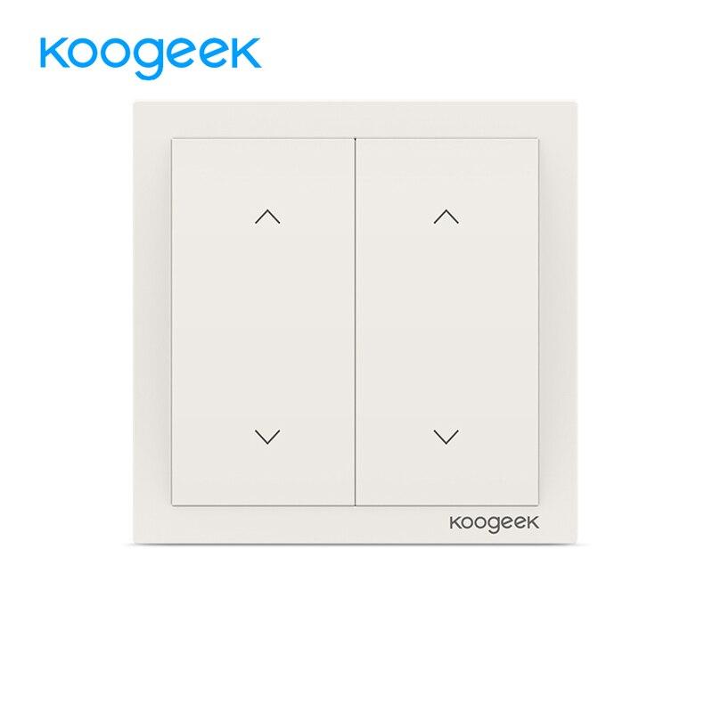 Koogeek 2 Gang włącznik światła wi fi bezprzewodowy Siri pilot zdalnego sterowania włączniki światła inteligentnego domu dla Apple HomeKit Alexa asystent Google w Moduły automatyki domowej od Elektronika użytkowa na  Grupa 1