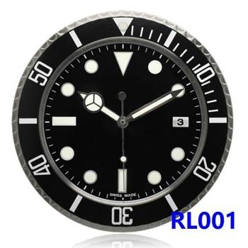 RLX GMT-MASTER II wall clock modern design high quality luxury brand stainless steel luminous face calendars FT-RLX-SUB001