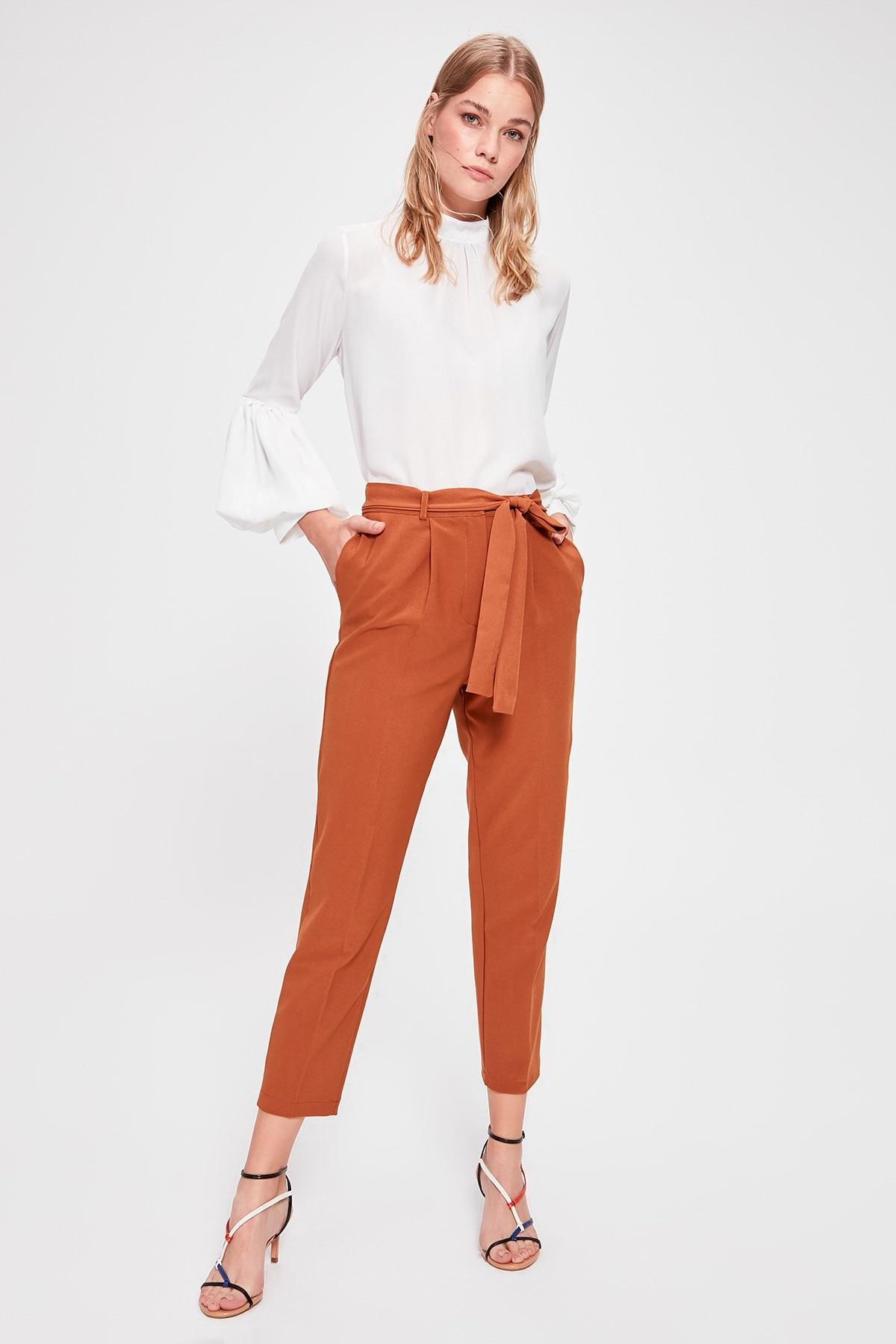 Trendyol Camel Carrot Pants TWOAW20PL0245
