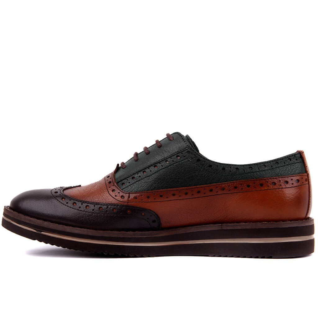 Image 4 - Sail Lakers Genuine Leather High Sole Men Daily Brogue Shoes Men  Formal Shoes Office Social Designer Wedding Luxury Elegant Male Dress  ShoesMens Casual Shoes