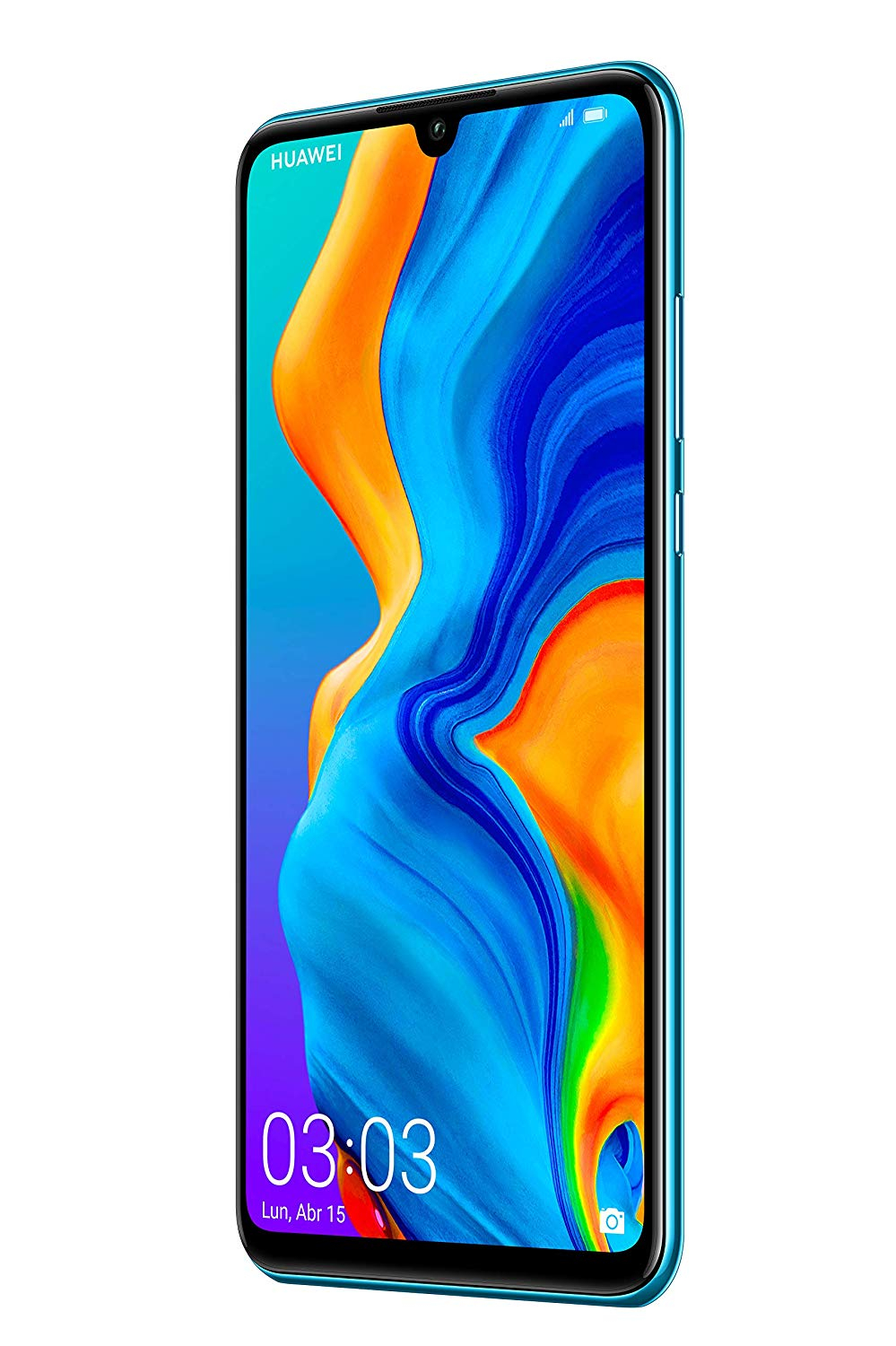 Huawei P30 Lite, Color Blue (Blue), Dual SIM, Internal 128 GB De Memoria, 4GB Ram, Screen 6.15