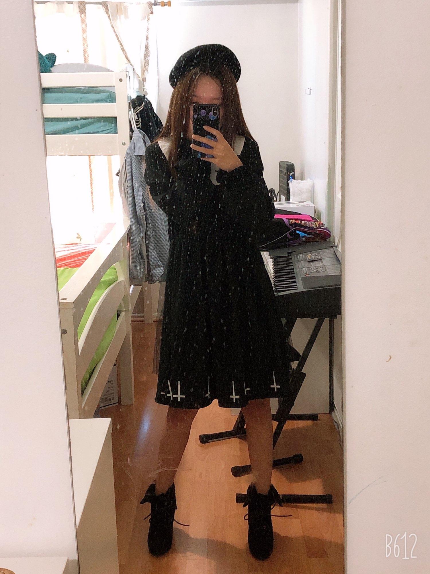 Harajuku Gothic Lolita Dress with Cross photo review