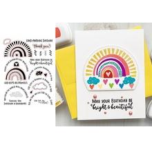 Dzień dobry Sunshine Rainbow przezroczysty stempel DIY Album z kartami do scrapbookingu Make Crafts wzornik dostarcza nowy znaczek 2020 tanie tanio OTCRAFT CN (pochodzenie) CLOUD Nieregularny rysunek koło litera Clear Stamp clear stamps Crafts Stamps Embossing Stencil