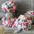 Пряжа Alize Puffy fine color с петлями 1 моток 100 грамм 14 метров Ализе Пуффи