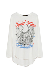 CUPID KILLER COLLECTION HALLUCINATION Camiseta de Manga Larga de Color Blanco para Mujer CK000071