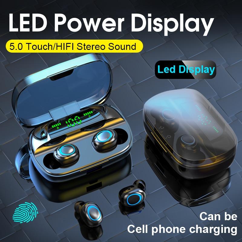 S11 TWS 3500 мАч Внешний аккумулятор наушники светодиодный Bluetooth 5,0 наушники беспроводные HIFI стерео наушники игровая гарнитура с микрофоном