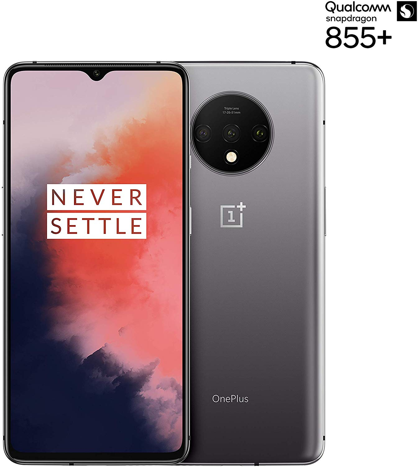 Phone OnePlus 7 T, Silver Color Frosted (Frosted Silver), 128 GB Of Internal Memory 8 GB RAM, Dual SIM, Touch