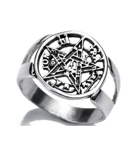 RING TETRAGRAMATON Sterling SILVER (20)-(made In Spain)