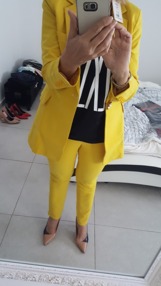 Women Clothes Casual Solid Women Pant Suits Notched Collar Blazer Jacket & Pencil Pant Yellow Female Suit Autumn High Quality reviews №3 42352