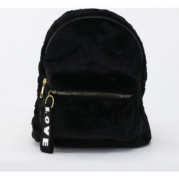 Depoms Women S Plush Backpack Black 5061-S hello kitty sanrio mickey mouse kuromi mini backpack stitch cinnamoroll bag kirby minnie kawaii frog plush my melody