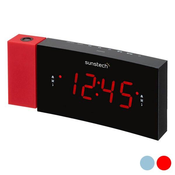 """Часы-радиоприемник Sunstech FRDP3 1,"""" светодиодный FM"""