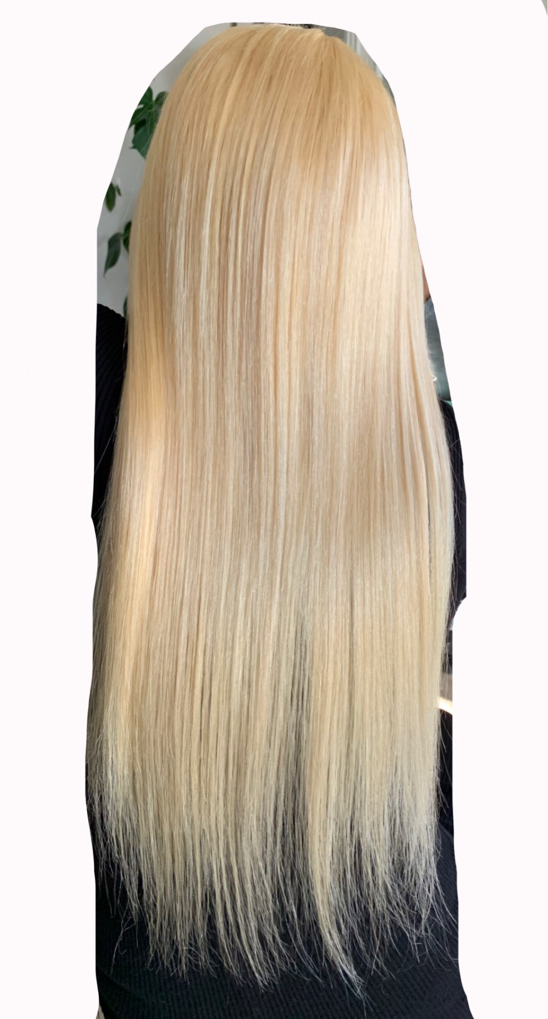 613 T Part Lace Wig Blonde Wig Human Hair Wigs Brazilian Straight Remy Pre Plucked 13x1 Part Human Hair Wigs For Black Women photo review