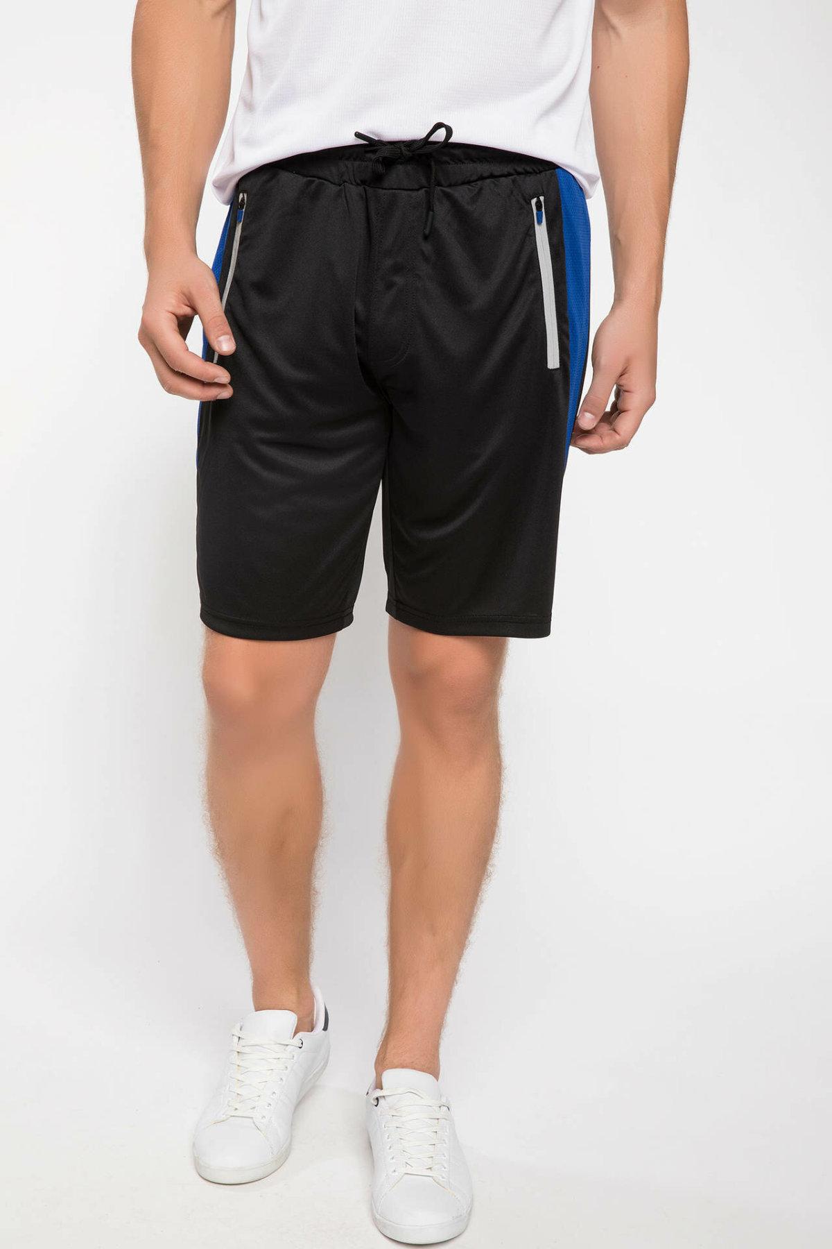 DeFacto Fashion Man Casual Drawstring Waist Short Pant Male Sport Bottoms For Men's Striped Sweatpants Summer New- J0948AZ18AU
