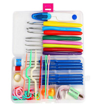 57 Pcs Premium Crochet Hooks Set with16 sizes crochet Hooks DIY Stitches Knitting Needles Boxed travel sewing tool accessories