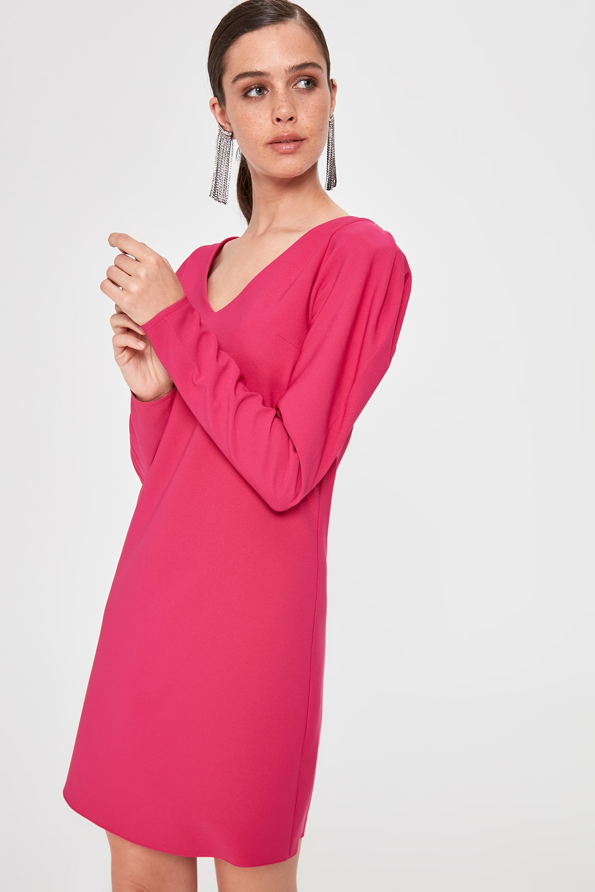 Trendyol Sleeve Detail Dress TPRAW20EL2173