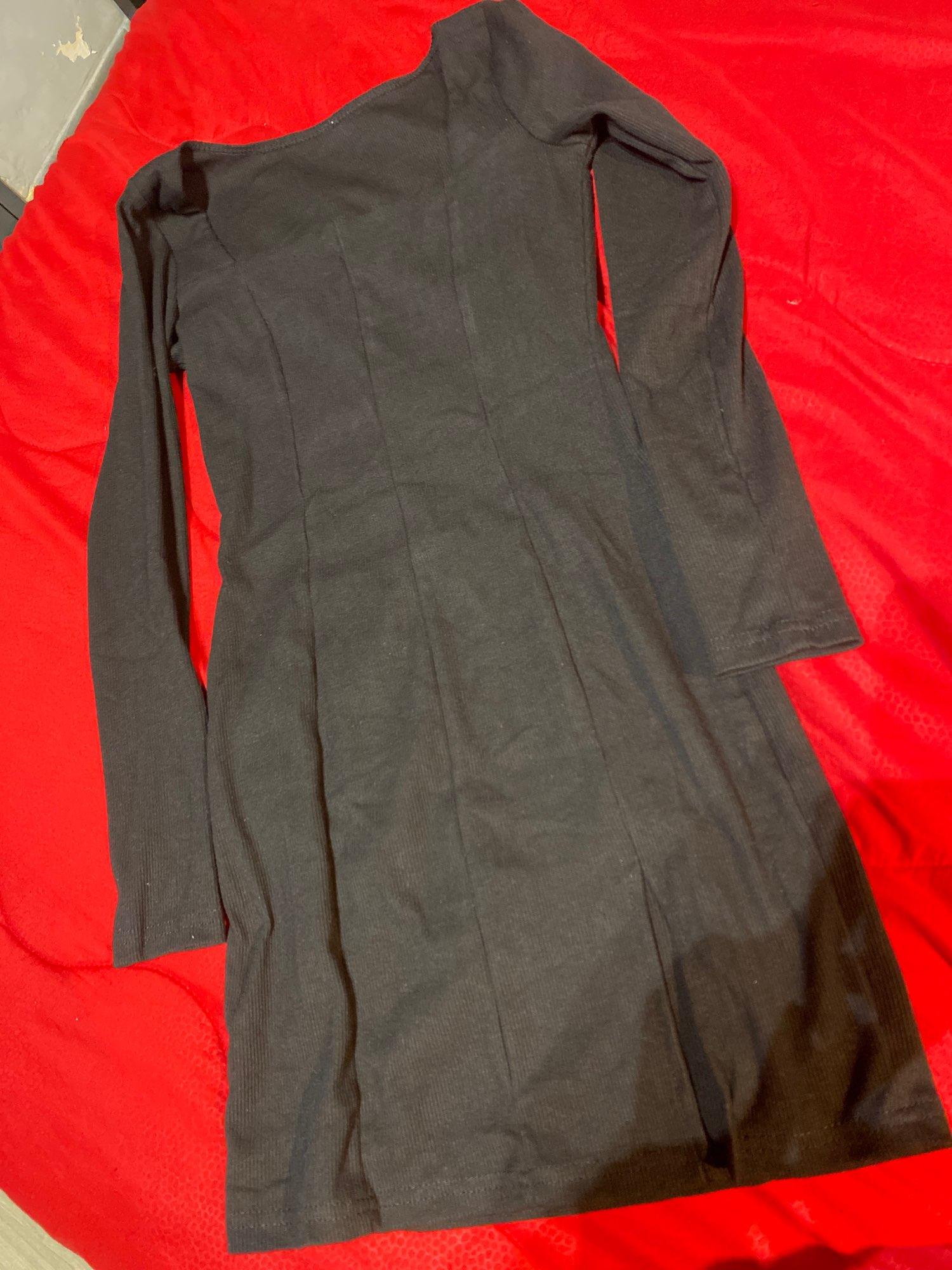 Women Winter Dress Women 2020 New Arrivals Sexy Long Sleeve Square Collar Split Khaki Black Solid Party Dresses Vestidos reviews №1 224898