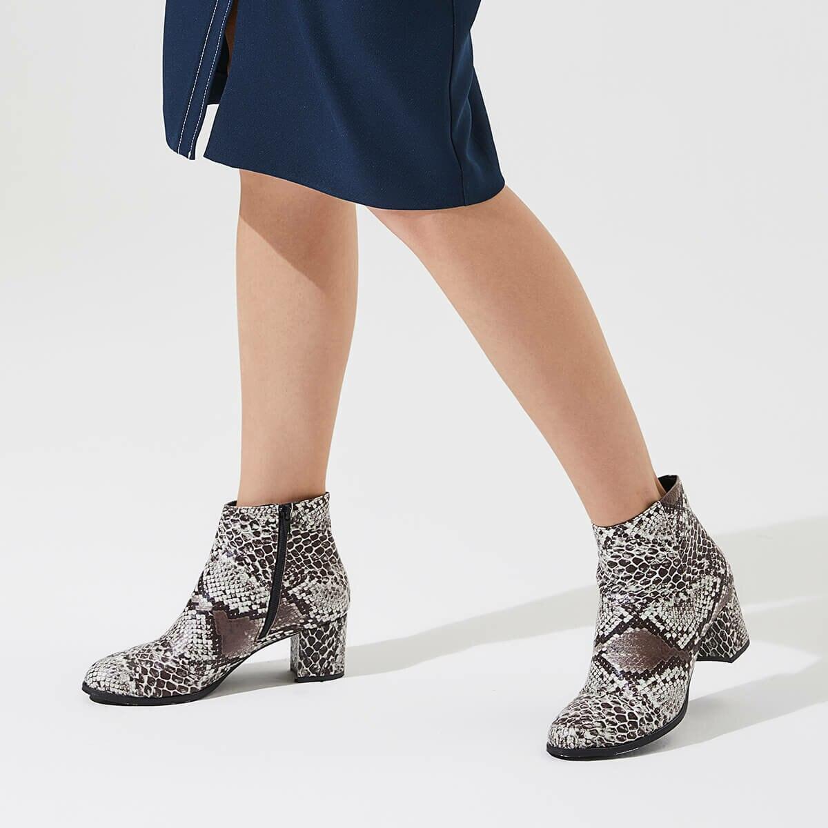 FLO LAURA21Z SKIN Brown Women 'S Boots BUTIGO