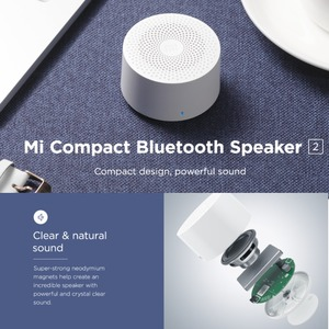 Image 4 - Xiaomi Mi Compact Bluetooth Speaker 2 (EU Version) Wireless Portable Mini Bluetooth Speaker Stereo Bass With Mic HD
