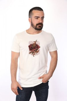 Angemiel Wear Lineal Rose Cotton White Men 'S T-Shirt image