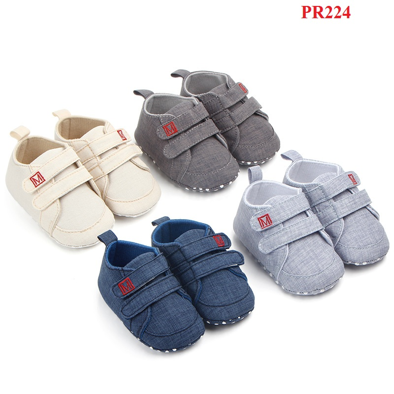 PR224, 0-18mths Sneaker Style Infant Shoes Prewalk Shoes Baby Shoes