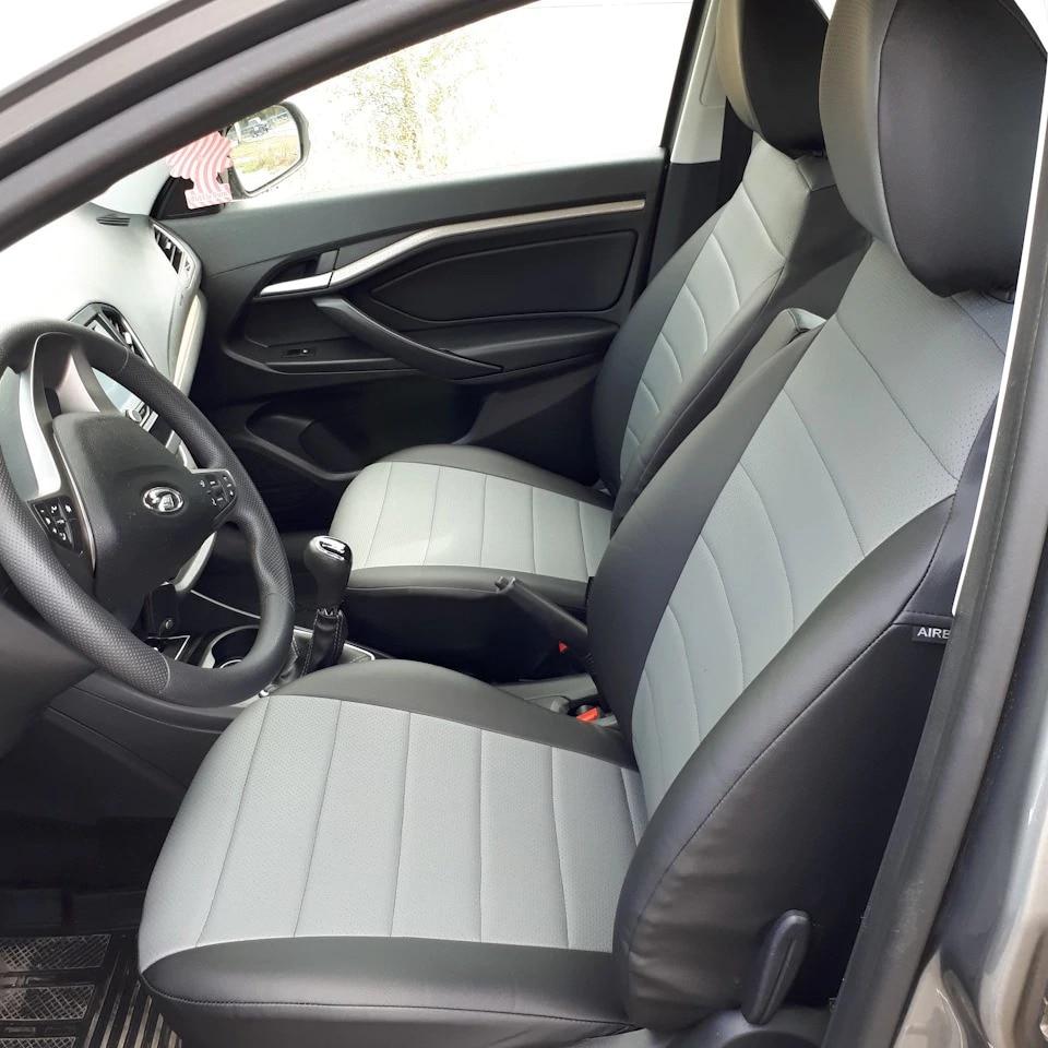 Для Lada Vesta 2015 2020 Комплект модельных авточехлов из экокожи, полный комплект [Автопилот] Чехлы на автомобильные сиденья      АлиЭкспресс