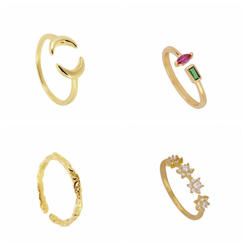 925 Sterling Silber Einstellbar Weave Muster Offenen Ring Personalisierte Vintage Finger Ringe Für Frauen Gold Silber Punk Edlen Schmuck