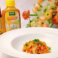 #太太乐鲜鸡汁芝麻香油#鸡丝拌双菇的做法图解10